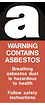 Warning Containing Asbestos